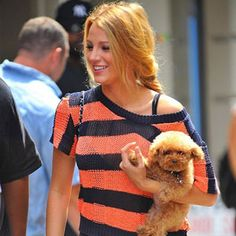 Blake Lively and her maltipoo. We have the same puppy :)