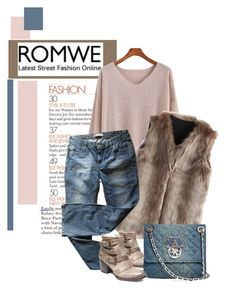 """""""romwe"""" by meylimayli ❤ liked on Polyvore featuring Chicwish, Steve Madden, GUESS and Levi's"""