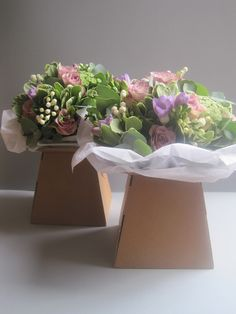 bridesmaid bouquets, memory lane roses, purple freesia, white bouvardia,