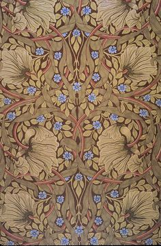 William Morris: This design was created from the works of the artist William Morris. Counted Cross Stitch Chart Specifics It was instigated by the artist and writer William Morris in the and was inspired by the writings of John Ruskin. William Morris Wallpaper, William Morris Art, Morris Wallpapers, Of Wallpaper, Pattern Wallpaper, Designer Wallpaper, Pattern Art, Pattern Design, Pattern Painting