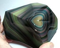 Mexican Specimens Gallery: Rainbow Obsidian, with heart!