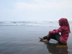 #traveling #beach #withcloud #pink #hijab