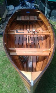 Building the Puffin in woodstrip epoxy: Ready for launching