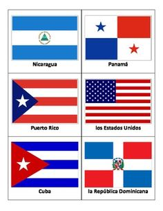 these full color flag flash cards feature the 21 spanish speaking countries flash