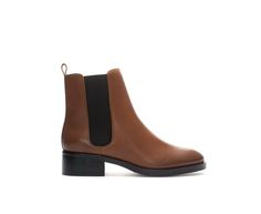 Image 1 of LEATHER CHELSEA BOOT from Zara