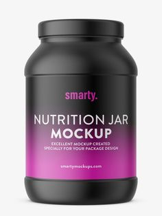 Mockup of popular nutrition jar. Mockup is prepared with ability to paste your own label. Pharmacy, Mockup, Packaging Design, Room Ideas, Label, Nutrition, Jar, Apothecary, Design Packaging
