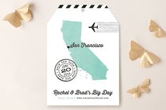 State Your Date - California by Hooray Creative at minted.com