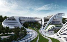 Modern eco-friendly building