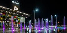 Coresi Shopping Resort fountain Fountain Design, Portfolio Design, Exterior, Shopping, Interiors, Outdoor Spaces
