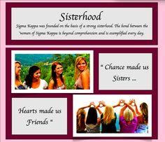 Sigma Kappa, Gamma Lambda Chapter - Sigma Kappa Sisterhood