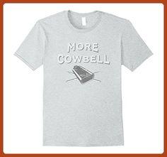 Mens I Need More Cowbell Funny Saturday Night T-Shirt  Medium Heather Grey - Funny shirts (*Partner-Link)