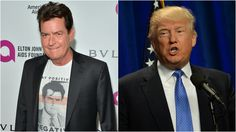 The 'Two and a Half Men' star does not speak highly of Trump's character. #CharlieSheen #ToasttoBrideandGroom