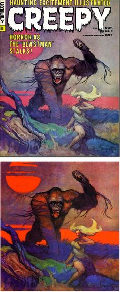 Creepy No.11, 66-10, Frank Frazetta, Warren Publishing.