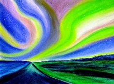 "Contemporary painting in soft pastels on Strathmore  paper 12""x18"""