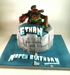 Skylanders cake with tree rex