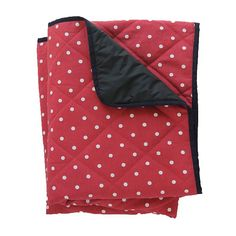 large padded picnic blanket red polka dot by just a joy | notonthehighstreet.com