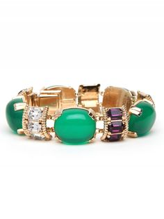 Emerald Cabochon Bracelet  $185 #lifeinstyle #greenwithenvy