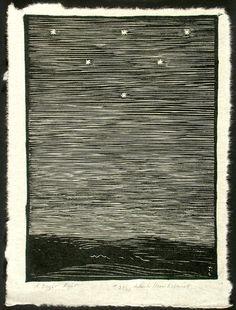 how I love woodcuts.  Wharton Esherick: A Bright Night, 1925