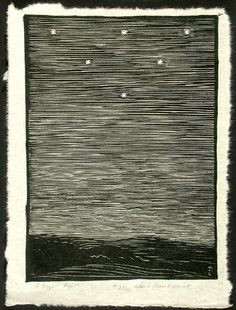 how I love woodcuts.  Wharton Esherick: A Bright Night, 1925