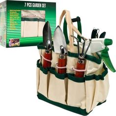 Trademark Commerce Trademark Tools 7 in 1 Plant Care Garden Tool Set (indoor & Garden Bags, Garden Tool Set, Organic Gardening Tips, Gardening Tools, Grow Bags, Tote Organization, Home Vegetable Garden, Natural Garden, Garden Pests