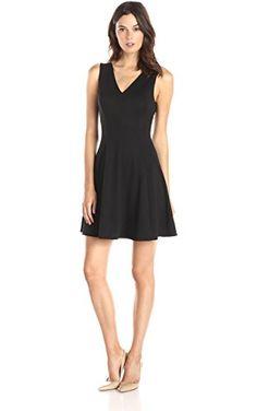Lark   Ro Women s Sleeveless V-Neck Fit and Flare Dress 741641caa