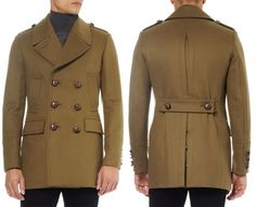 Burberry London slim-fit wool-blend pea coat.  Love this coat, it's great for that 60s look... shame about the price though: £895  Youch!