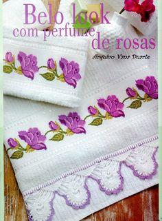 Ponto Cruz : Perfume de rosas