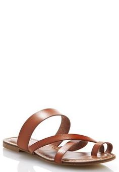 Cato Fashions Wide Width Toe Loop Cross Band Sandals #CatoFashions