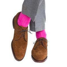 Rose Ribbed Solid Sock Linked Toe OTC