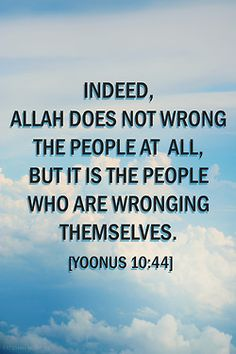 People go 'oh but why does God do this horrible thing or that?' Because we have free will and because of this free will of ours, we're doing things that cause us more harm than good. Stop blaming others for things going wrong and maybe think of what you could have done better instead