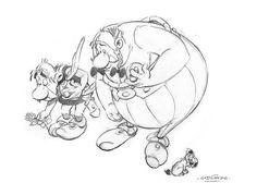 """So reagieren Zeichner aus aller Welt auf den Tod ihrer Kollegen beim Satiremagazin Charlie Hebdo"""": Asterix-Zeichner Albert Uderzo (87) hat die ihm eigene Form gewählt, um sich von den vier ermordeten Kollegen des Satiremagazins """"Charlie Hebdo"""" zu verabschieden: In seiner Zeichnung verbeugen sich seine Figuren Asterix und Obelix nach dem Anschlag tief. Mehr dazu hier: http://www.nachrichten.at/nachrichten/weltspiegel/Charlie-Hebdo-als-Zeitschrift-der-Ueberlebenden;art17,1598439 (Bild: Uderzo)"""