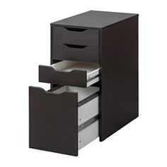 IKEA - ALEX, Drawer unit/drop file storage, white, , Drawer stops prevent the drawers from being pulled out too far.Can be placed anywhere in the room because the back is finished.Drawer for files makes it easy to sort and store important papers.