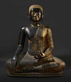 """THAILANDE, Ratanakosin - Fin XIXe siècle - Grande statue de bouddha en bronze[...], mis en vente lors de la vente """"Arts d'Asie"""" à Pescheteau-Badin   Auction.fr"""