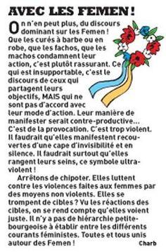 Message de soutien de Charb aux FEMEN.