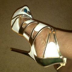 Lynn by Alba Gorgeous white and gold shoes ALBA Shoes Heels