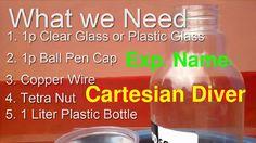 Diver with pen cap ডুবুরী তৈরি কলমের ক্যাপ থেকে Make a Cartesian Diver w...
