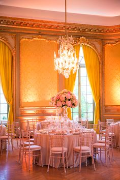 French Hotel Wedding Reception | photography by http://oneandonlyparisphotography.com/