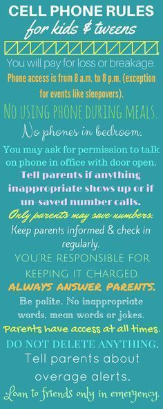 Safe cell phone rules for kids, tweens, and teens. #parentingtipsforboys
