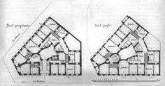 Znalezione obrazy dla zapytania plan przedwojennej kamienicy