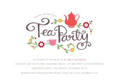 party invitations - tea party by Kristen Smith