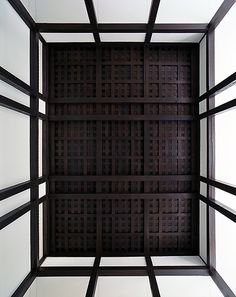 looking up at ceiling
