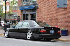 Keepin it classy, bagged W124 - StanceWorks