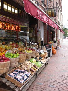 Boston, Massachusetts - Fall at the neighborhood market in Boston