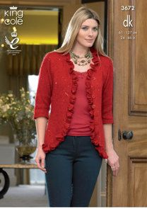 Cardigan and Waistcoat in King Cole Galaxy DK - 3672