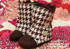 Sew She Sews site - adorable homemade boots!