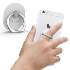Grab your smartphone with confidence using Spigen's Style Ring. Easily wear it on your finger after attaching it to your phone.