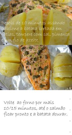 Cinthya Rachel    » Jantar fácil 15 minutos – Salmão com batata assada