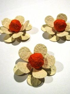 3D plantable seed paper flowers- custom colored petals and centers