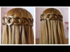 Tuto coiffure simple cheveux long/mi longQueue de cheval avec une fleur de cheveux, facile à faire - YouTube