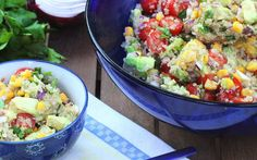 17 Vegan Quinoa Recipes You've Never Tried Before- Here are 17 you have probably never tried before! Learn more about this pseudo grain & how to prepare it for some awesome breakfast, lunch & dinner. Vegan Quinoa Recipes, Cauliflower Recipes, Vegan Foods, Healthy Recipes, Alkaline Recipes, Vegan Dishes, Free Recipes, Paleo, Mexican Food Recipes